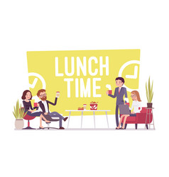 Lunch time in the office vector