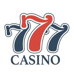 Luxury casino 777 isolated minimalistic vector
