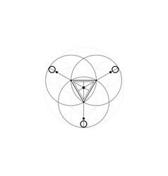 Magic alchemy symbols sacred geometry mandala vector