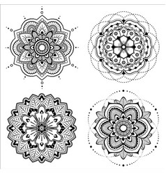 Mandala set vector