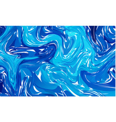 marbled blue abstract background liquid marble vector image
