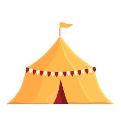 Medieval tent icon cartoon ancient knight vector