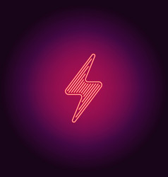 neon icon of red electric energy vector image