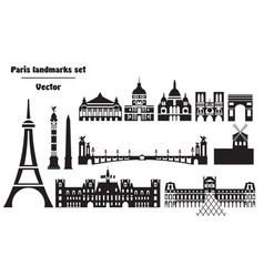 Paris city skyline 10 vector