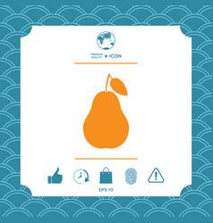 pear symbol icon vector image