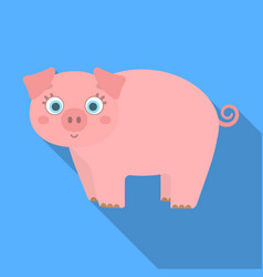 Piglet single icon in flat stylepiglet vector