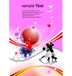 pink holiday background invitation card vector image
