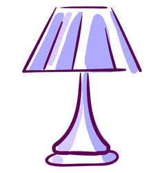 purple lamp on white background vector image