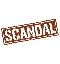 Scandal square grunge stamp vector