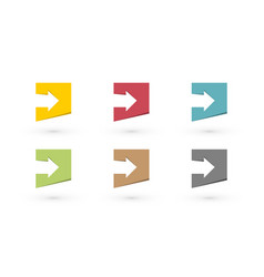 set of colored arrows vector image