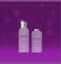 Shampoo and spray bottles vector