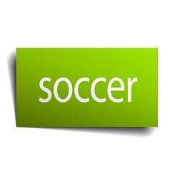 soccer square paper sign isolated on white vector image