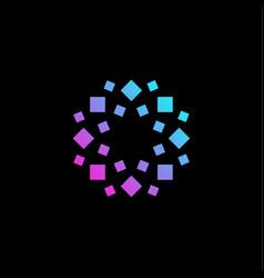 stylized geometrical flower logo geometric floral vector image