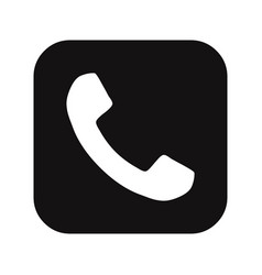 telephone call button icon vector image