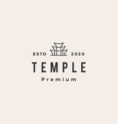 temple hipster vintage logo icon vector image