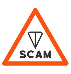 Ton scam warning flat icon vector