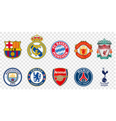 Top 10 football clubs in world vector