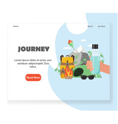 tour agency website landing page design vector image