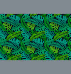 tropical seamless natural pattern exotic leaves vector image