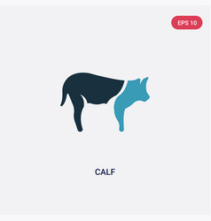 two color calf icon from animals concept isolated vector image