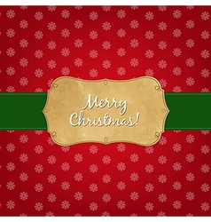 Vintage Red Merry Christmas Label vector image