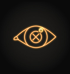 vision problem concept icon in neon line style vector image