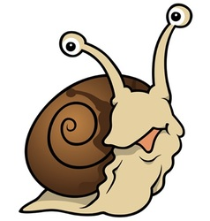 Waiting snail vector