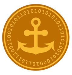 Anchor digital coin vector