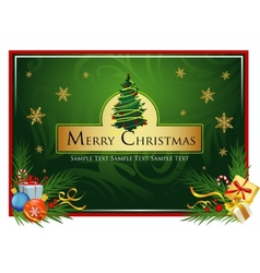 Classic Christmas card vector image