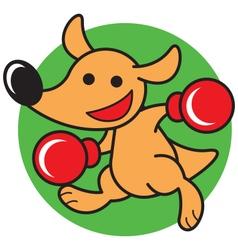 Kangaroo boxing vector