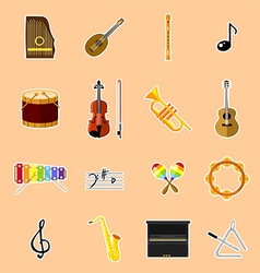 Musical instruments vector image vector image