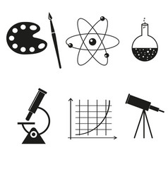 science set icons vector image