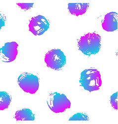 seamless pattern with brush blots and vector image vector image