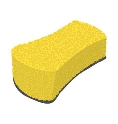 Sponge wiping cartoon icon vector image
