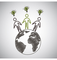 thinkgreen design vector image