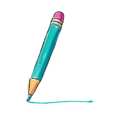 Bright colors pencil drawing vector image vector image