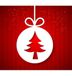 Christmas applique background vector image vector image