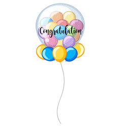 Colorful balloons with word congratulation vector