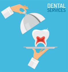 dental services concept vector image