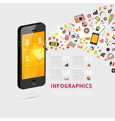 Infographic template for phone vector