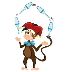 Monkey juggler vector image
