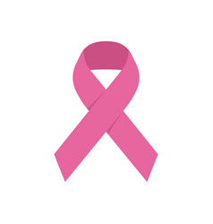 pink ribbon icon breast cancer awareness symbol vector image vector image