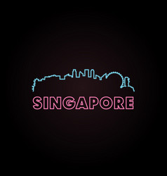 Singapore skyline neon style vector