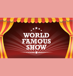 circus poster template circus tent vector image vector image