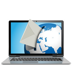 Mail Concept with Notebook vector image vector image