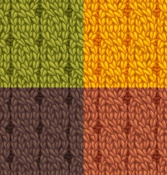 Seamless cables front patterns set vector image vector image