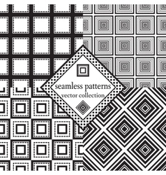 set of seamless squares vector image