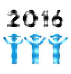 2016 guys dance halftone icon vector
