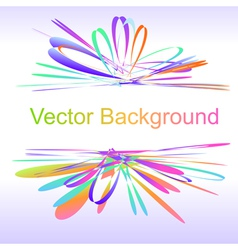 Abstract bow colorful background vector