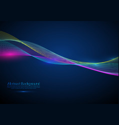abstract design element flowing particle waves vector image
